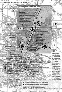 Ist- und Sollzustand der Gauhauptstadt Oldenburg 1939 / Planung 1944