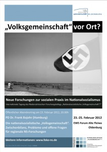 Plakat zur Tagung in Oldenburg, Februar 2012 | Design Kerstin Thieler.