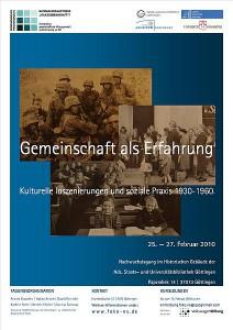 Plakat der Nachwuchsforschung des NS-Kollegs, Februar 2010.